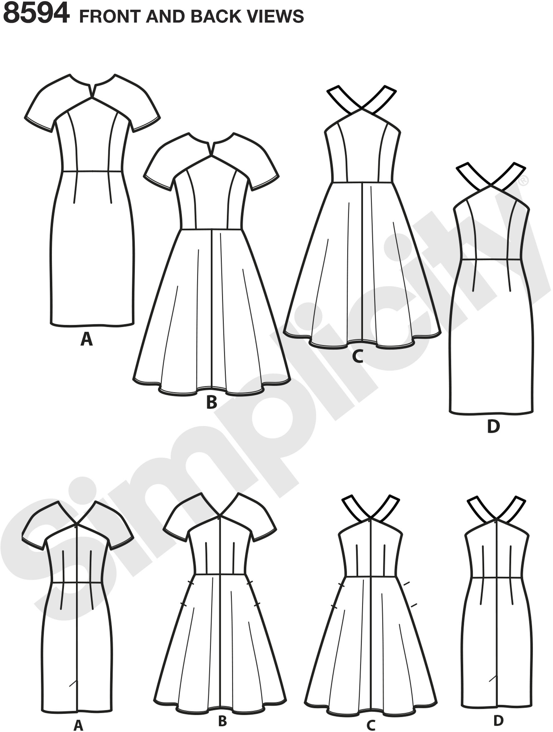 Sew your favorite of these sweet dresses for Misses and Petites with bodice and skirt variations.