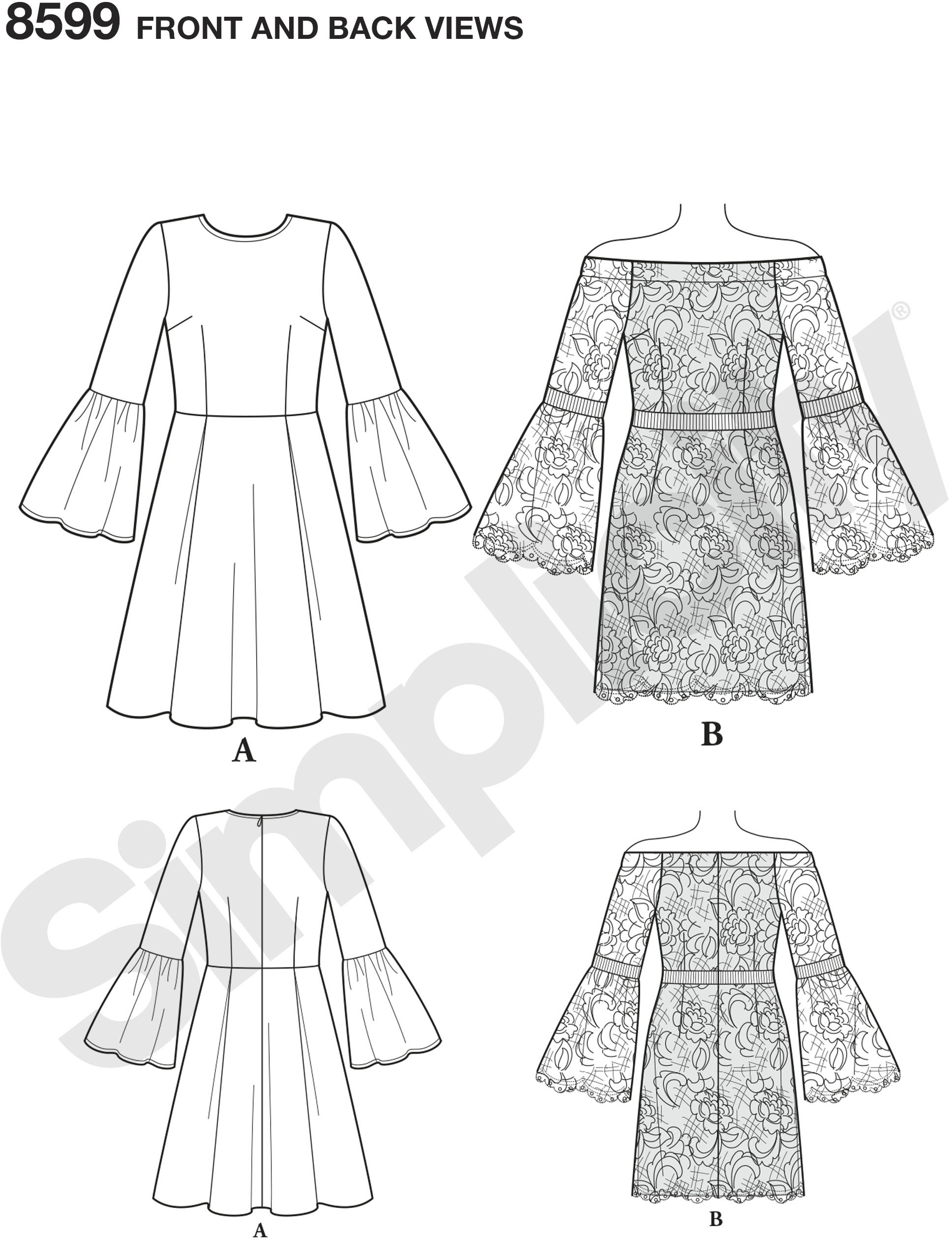 Create the perfect day-to-evening dresses with this sewing pattern for Misses and Petites designed by Cynthia Rowley.