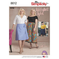 Simplicity 8612. Easy Wrap Skirts by Ashley Nell Tipton.