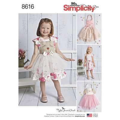 Toddlers Dress and Apron Tutu