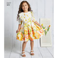 These childs dresses are perfect for many occasions. Dress pattern features a pleated skirt with sleeve, ruffle and sash options.
