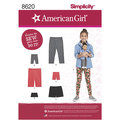 Learn to sew with this American Girl pattern that includes leggings in ankle or capri length, bike shorts and cartwheel shorts, for child sizes 3 to 14 and American Girl 18 inches doll.