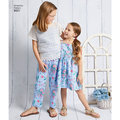 Jump into spring with these easy-to-sew pieces for child and girl sizes 3 to 14. Pattern includes a dress, knit camisole with lace overlay, and ankle length pants.