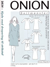 Onion pattern: Dress with drapey for knitted fabric