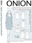 Onion 2034. Dress with drapey for knitted fabric.