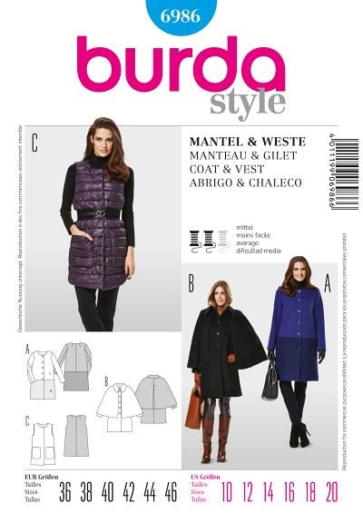 Coat or vest, collarless
