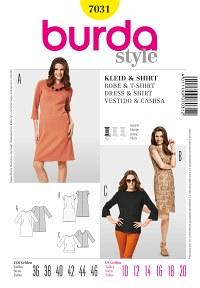 Burda pattern: Dress – Lace Dress – Bateau Neck, Shirt – Neck Band