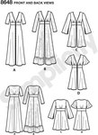 """Whether you're looking for a beach cover up, kimono or dress these """"multi-tasker"""" dusters are perfect for any occasion. Dusters feature length and sleeve variations. Great for lace, sheer and or silky type fabrics. Simplicity sewing pattern."""