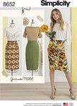 Simplicity 8652. Women's Skirts.