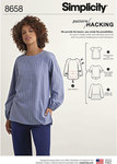 Simplicity 8658. Women's Top  with Options for Design Hacking.