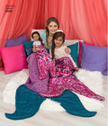 """Fun and cozy novelty blankets for the entire family including your 18"""" doll. Features mermaid and dinosaur design with pillow. Great for fleece fabrics and or novelty sequin. Karen Fleisch for Simplicity."""