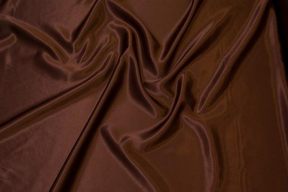 Crepe sateen in chocolate brown
