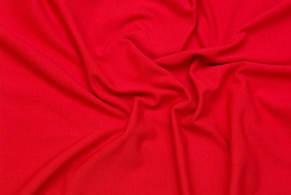 Stretch jersey in classic quality in red