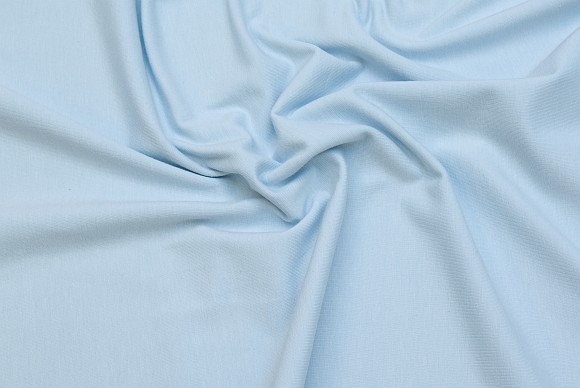 Stretch jersey in classic quality in light blue