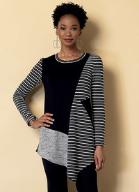 Seamed Tunics with Asymmetical Hems