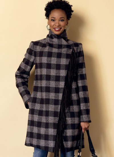 Shawl Collar Coat and Vest with Belt