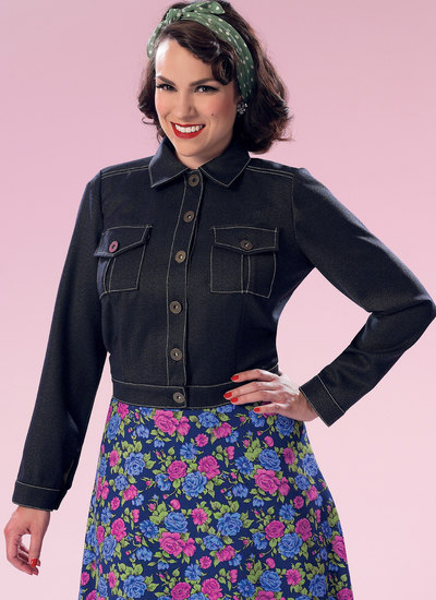 Button-Down Jacket with Bust Pockets