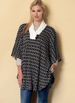 Butterick 6391. Shawl Collar, Bateau or V-Neck Ponchos.
