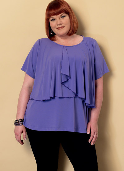 Asymmetical-Overlay Top