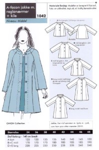Onion 1042. A-shape jacket with raglan sleeves.