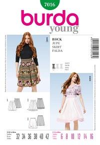 Skirt – Pleats – Underskirt. Burda 7016.