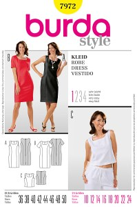 Dress and top. Burda 7972.