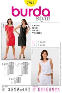 Dress and top. Burda 7972.