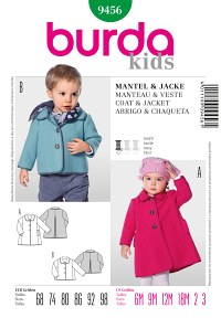 Coat or Jacket with Binding Edges. Burda 9456.