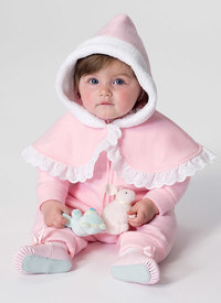 Infants Cape, Vest, Buntings and Pull-On Pants. Butterick 6372.