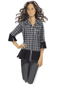 Button-Down Shirts with Side Slits. Butterick 6376.
