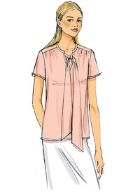 Gathered Tops and Tunics with Neck Ties. Butterick 6378.
