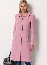 Funnel-Neck, Peter Pan or Pointed Collar Coats. Butterick 6385.