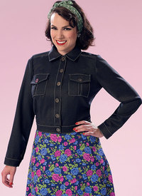 Button-Down Jacket with Bust Pockets. Butterick 6390.