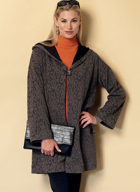 Shawl Collar Coats. Butterick 6394.