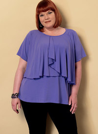Asymmetical-Overlay Top. Butterick 6396.