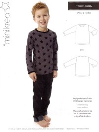 T-shirt with long or short sleeves. Minikrea 50220.