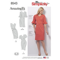 Amazing Fit Dress. Simplicity 8543.