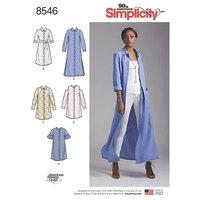 Shirt dresses. Simplicity 8546.