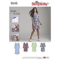 Knit Dress. Simplicity 8548.