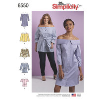 Dress, Tunic and Top. Simplicity 8550.