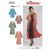 Kimonos. Simplicity 8553.