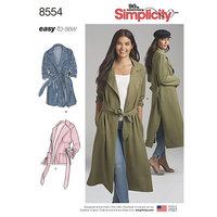 Coats and Jackets. Simplicity 8554.