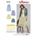 Simplicity 8555. Pleated skirts.