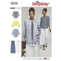 Blouses, tops, pants. Simplicity 8556.
