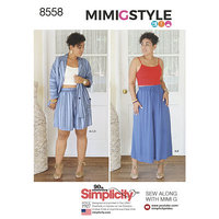 Skirts, tops, blouses by Mimi G Style. Simplicity 8558.