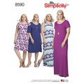 Simplicity 8590. Knit Dresses.