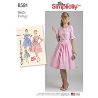 Vintage Dress. Simplicity 8591.