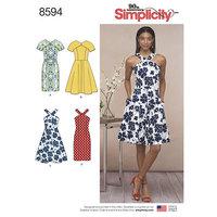 Dresses. Simplicity 8594.
