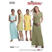 Knit Dresses. Simplicity 8595.