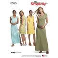 Simplicity 8595. Knit Dresses.